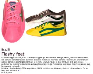 article de presse edelweiss suisse taygra chaussure brasil