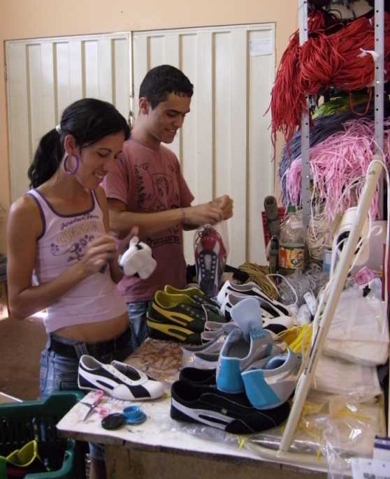 quality control at production, TAYGRA BRASIL sneakers are cleaned with Cachaça !